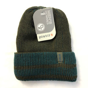 Pistil Mens Pablo Knit Beanie Hat Striped Cuffed